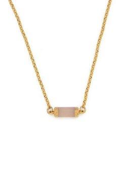 Rose Quartz Gold Gemstone Choker