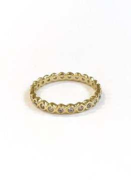 Qualita in Argento Italian Sterling Gold Ring