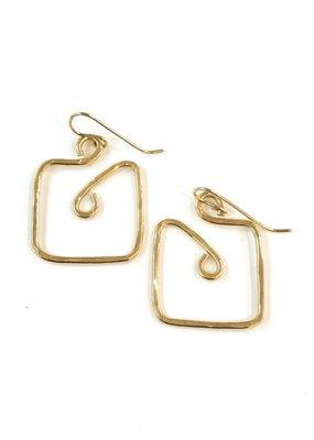 Something Charming 14K Gold Filled Square Earrings
