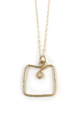 Something Charming 14K Gold Filled Square Necklace