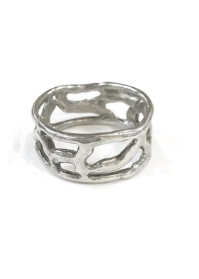 Something Charming Handcrafted Stelring Silver Ring SZ 9.5