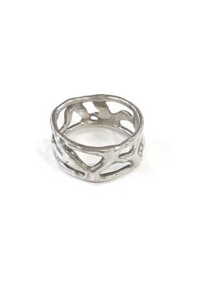 Something Charming Handcrafted Stelring Silver Ring SZ 8