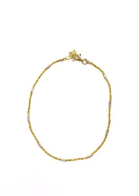 Qualita In Argento Italian Sterling Silver Gold Anklet