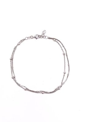 Italian Sterling Silver Ball Anklet