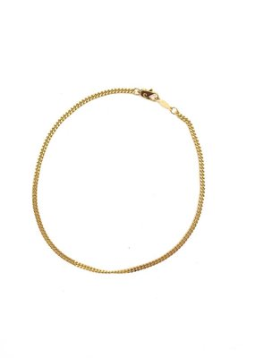 Italian Sterling Silver Rombo Link Gold Plated Anklet