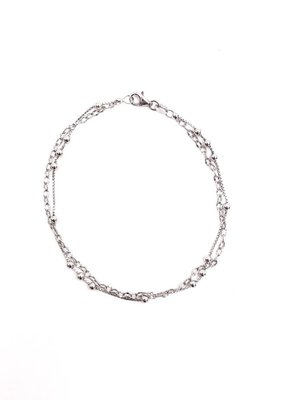 Qualita In Argento Sterling Silver Ball Anklet