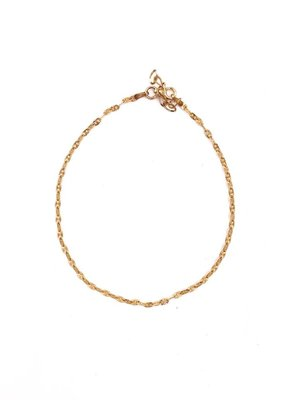 Qualita In Argento Italian Sterling Rose Gold Nova Anklet