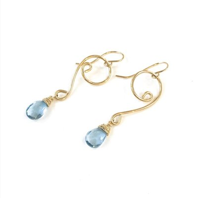Something Charming 14k Gold Filled Cleft Gemstone Earrings