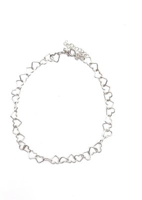 Qualita In Argento Italian Sterling Silver Heart Anklet