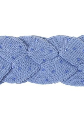 C.C. CC Denim Braided Headwrap with Beads