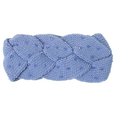C.C. Denim Braided Headwrap with Beads
