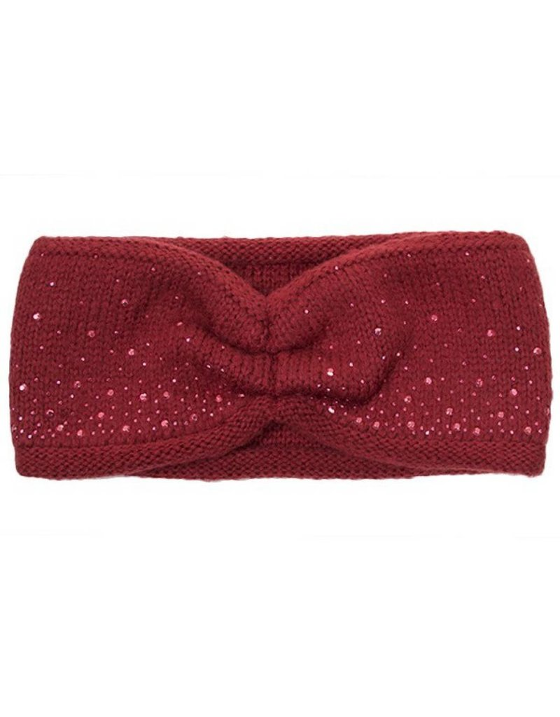C.C. CC Burgundy Sparkle Headwrap