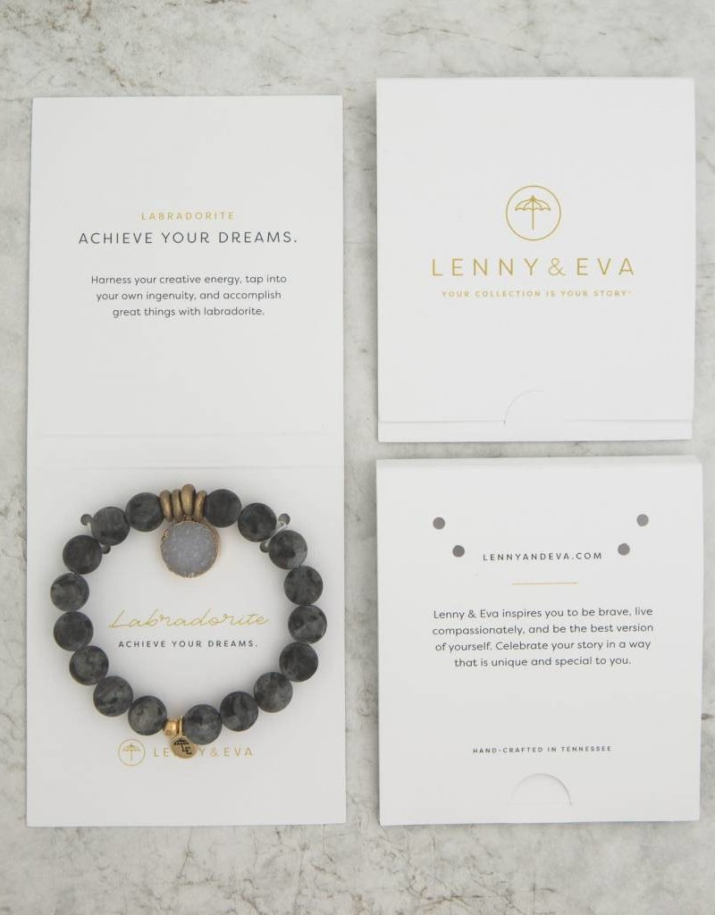 Lenny & Eva 10mm Gemstone Bracelet Labradorite