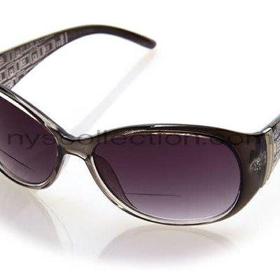 NYS Trendy Oval Bifocals Black/+1.00