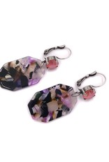 Rachel Marie Octagon Acrylic Earrings Multi Color