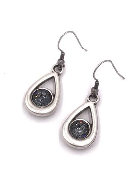 Rachel Marie Callie Teardrop Swarovski Earring Soft Denim