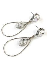 Rachel Marie Large Teardrop Swarovski Earring Clear
