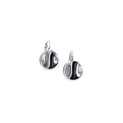 Bud to Rose Swedish Stainless Steel Layered Circles French Clip Earrings