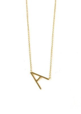 iiShii Designs Sterling Silver Gold Plated Initial A Necklace