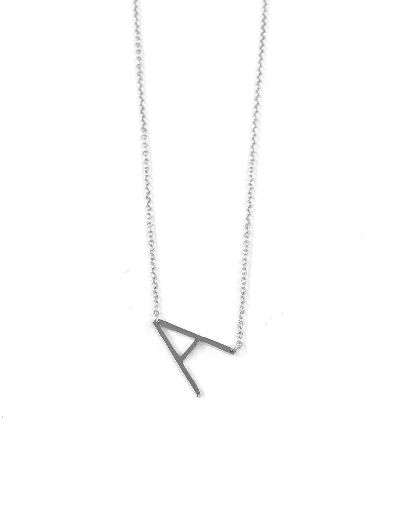 iiShii Sterling Silver Initial A Necklace