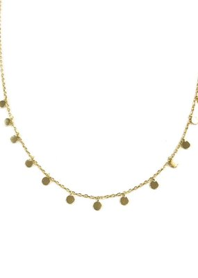 iiShii Designs Sterling Silver Gold Plated Confetti Necklace