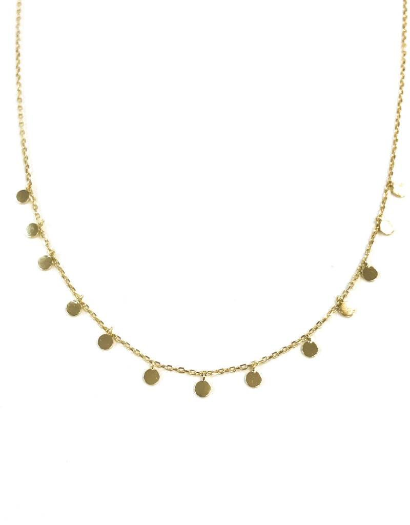 iiShii Sterling Silver Gold Plated Confetti Necklace