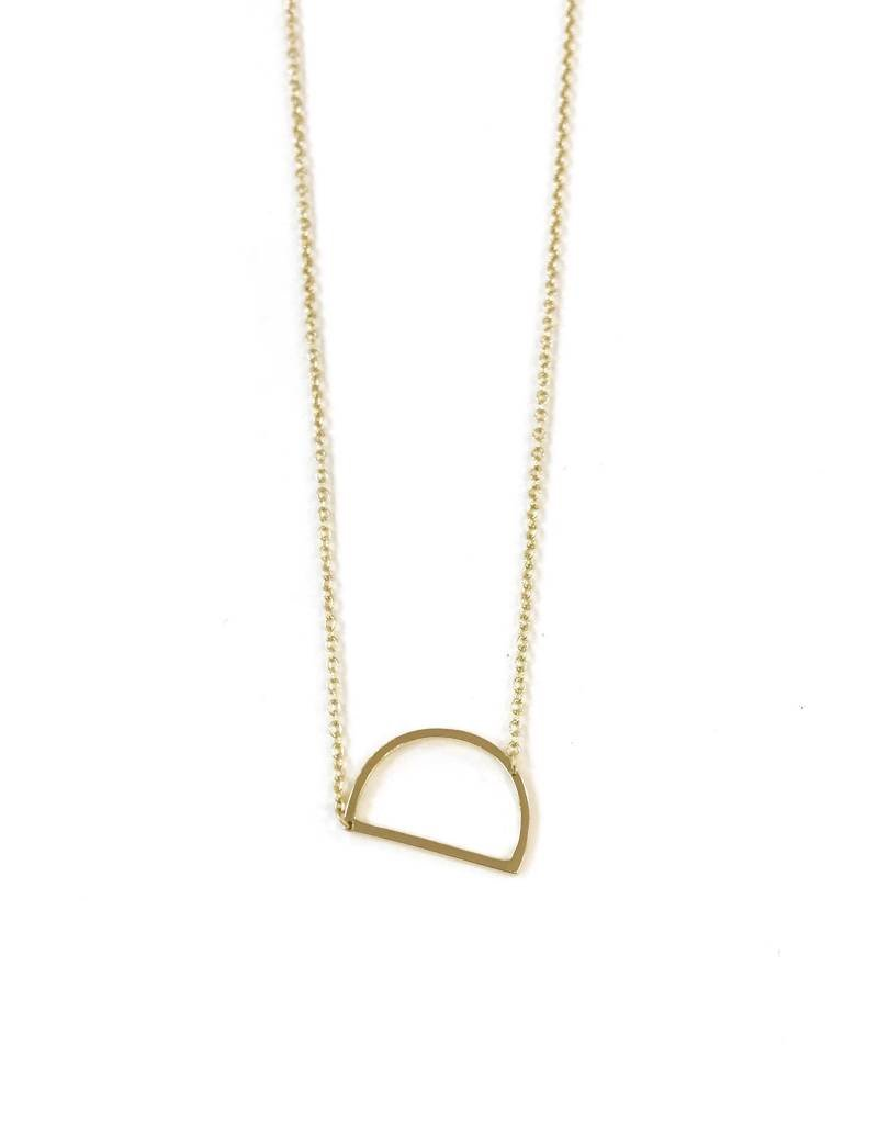 iiShii Sterling Silver Gold Plated Initial D Necklace