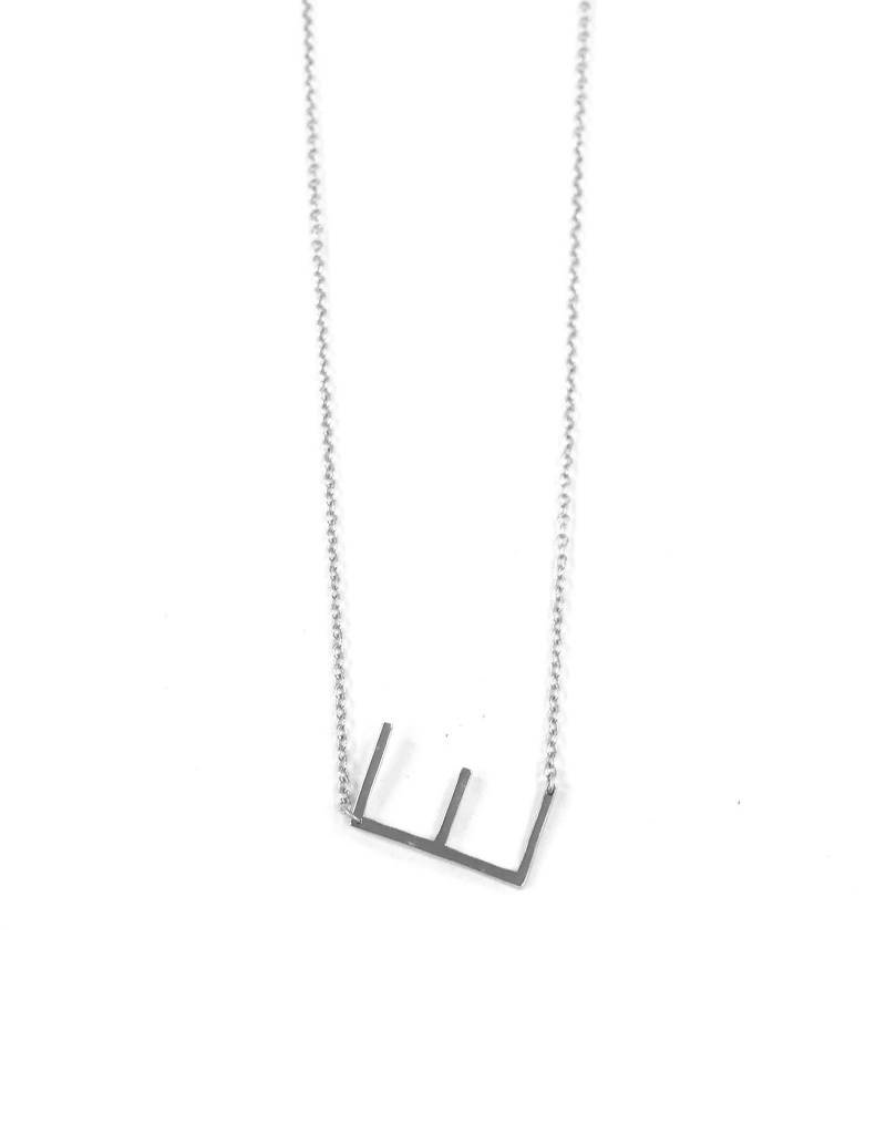 iiShii Designs Sterling Silver Initial E Necklace