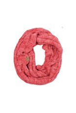 C.C. CC Two Tone Pink Infinity Scarf