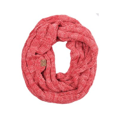 C.C. Two Tone Pink Infinity Scarf
