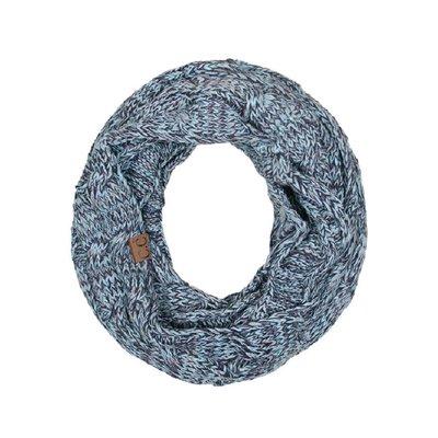 C.C. Mint/Gray Knit Infinity CC Scarf