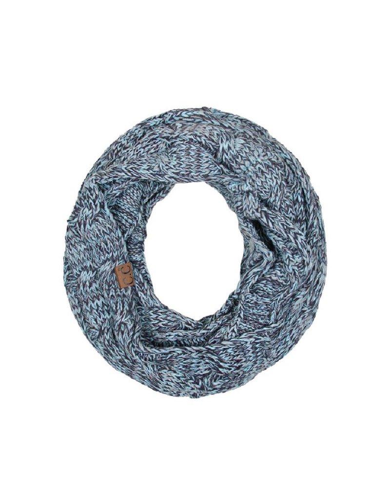 C.C. CC Mint/Grey Knit Infinity Scarf