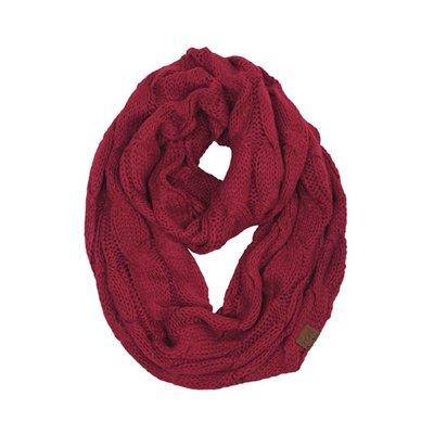 C.C. Burgundy Knit Infinity CC Scarf