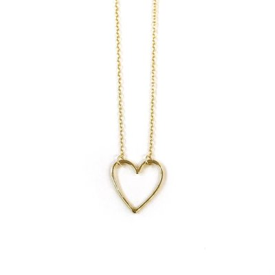 iiShii Designs Sterling Silver Gold Plated Heart Necklace