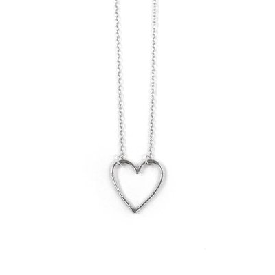 iiShii Designs Sterling Silver Heart Necklace