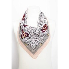 Orchid Floral Print Square Bandana Scarf