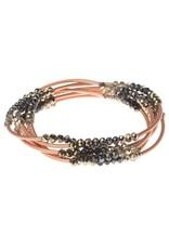 Scout Crystal Metallic Tri Matte Rose Gold Wrap
