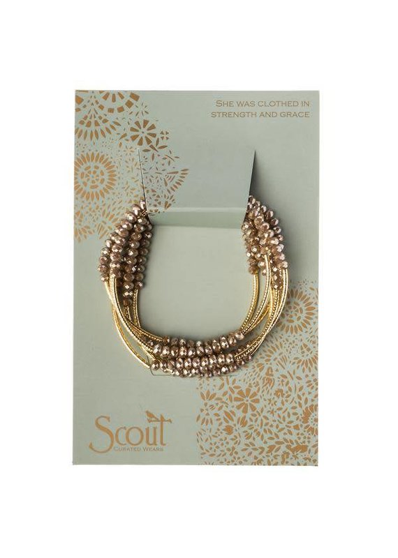 Scout Crystal Oyster & Gold Wrap