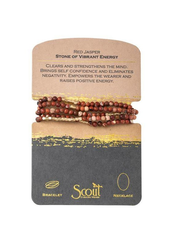 Scout Red Jasper Stone Wrap