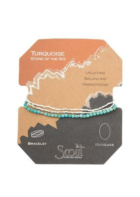 Scout Turquoise & Silver Delicate Stone Wrap