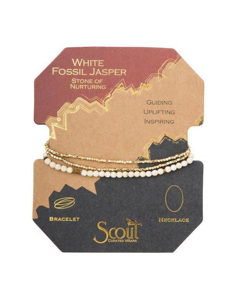 Scout White Fossil Delicate Stone Wrap
