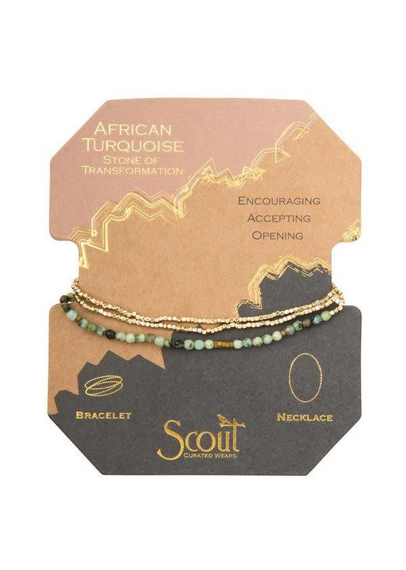 Scout African Turquoise Delicate Stone Wrap