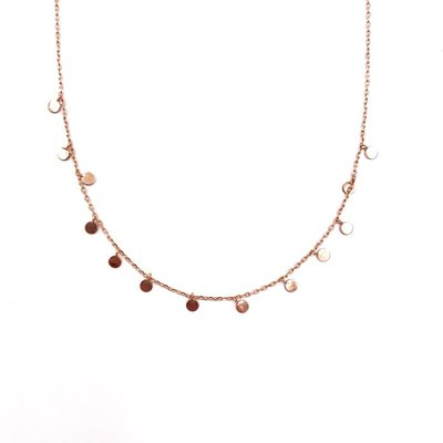 iiShii Designs Sterling Silver Rose Gold Plated Confetti Necklace