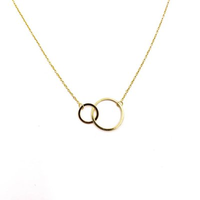 iiShii Designs Sterling Silver Gold Plated Eternity Circle Necklace