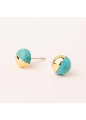 Scout Turquoise Gold Dipped Stone Stud Earring