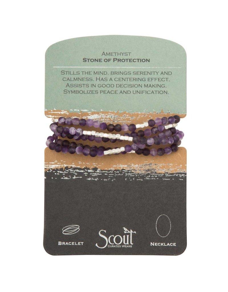 Scout Amethyst Stone Wrap