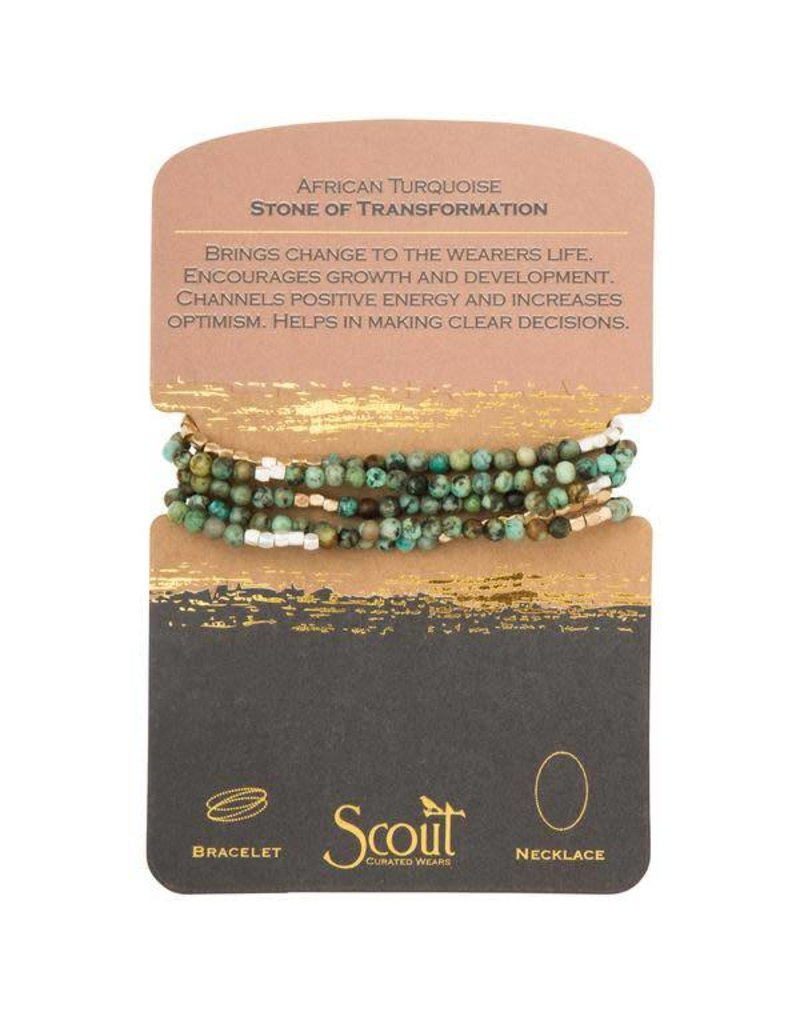 Scout African Turquoise Stone Wrap