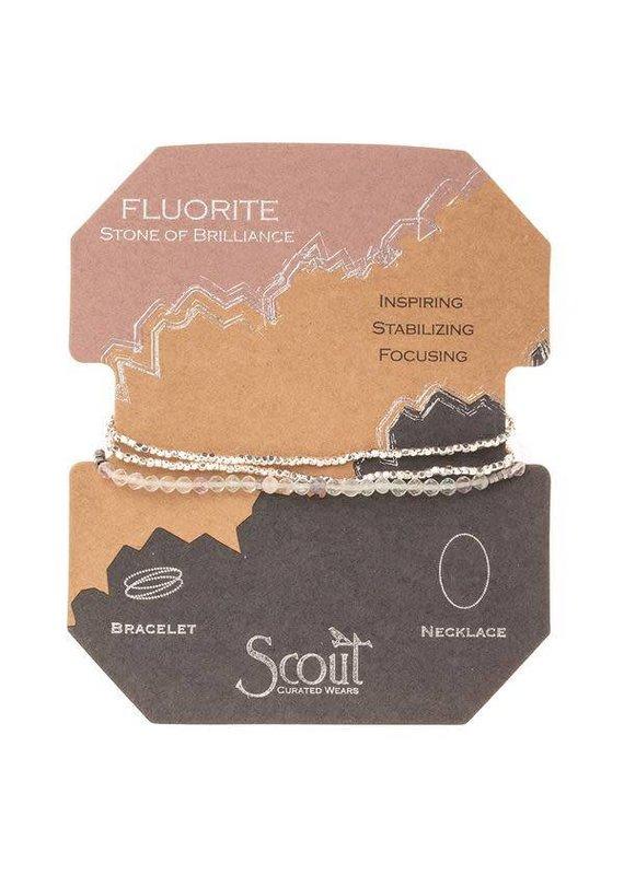 Scout Fluorite Delicate Stone Wrap