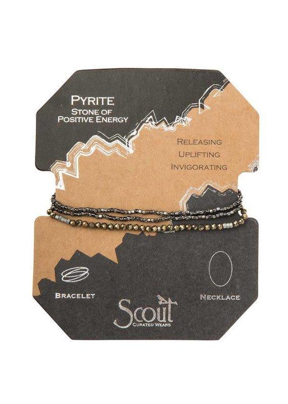 Scout Pyrite Delicate Stone Wrap