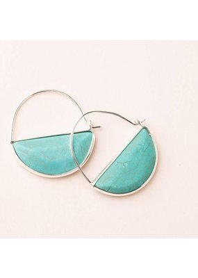 Scout Turquoise & Silver Stone Prism Hoop